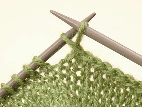 Curso tejido dos agujas - Puntos de agujas de lana ...
