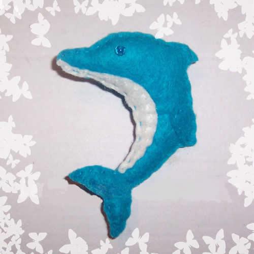 Dibujo para hacer en fieltro un delfn