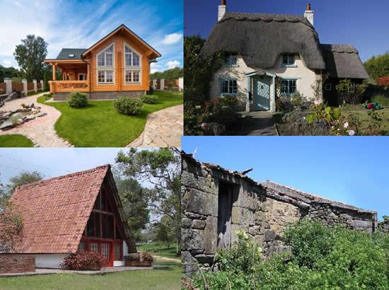 fachadas de casas rusticas. Las fachadas de las casas de
