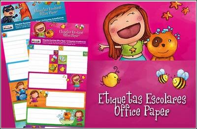 Cuadernos Escolares Y Etiquetas Escolares