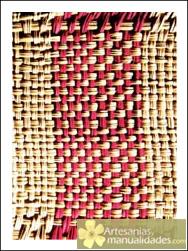 El punto damero de tejido a mano